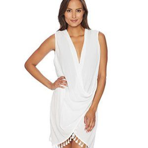 Athena wrap dress - cover up size L-White NWT